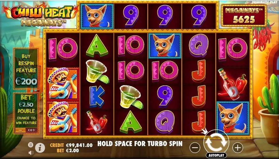 Chilli Heat Megaways slot spelautomat casinochecken